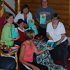 "2009 X-mas in July; ""The Girls from Ames"" : Linda surprised the girls of our generation by giving each of us a copy of the best-seller!"
