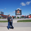 2010 Elizabeth and Brian; at Jack Trice Stadium :
