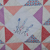 2010 Vanessa Quilts : Vanessa hand-quilted this beautiful quilt to showcase intricate the classic tea towels made years ago by Tammy's Great Grandmother. The quilt was voted a FAN favorite at the Adel Quilt Shoppe and Dry Goods Annual Quilt Show June 18-19th, so it earned a spot on their Annual Calender of Quilts!