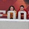 2012 Lindsay & Kevin; at the big ISU mural; Bergstrom Football Complex :