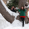 2012 Lindsay & Kevin at a cool tree on Campus :
