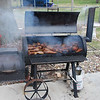 2009 Oak Tree Smoking : Gary and Denny smoked 40 pounds of Boneless Beef Ribs and 80 Turkey Legs for the Ironworkers Apprentice Graduation Celebration.